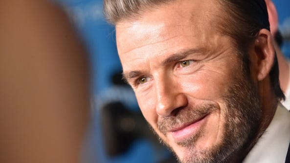 David Beckham makes an appearance at a UNICEF event