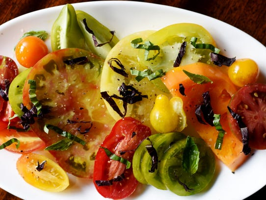 The heirloom tomato salad at Park & Orchard in East