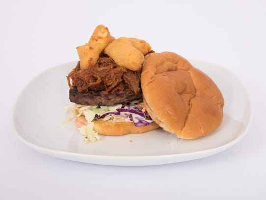 Curd & Q burger is among the new food items the D-Backs