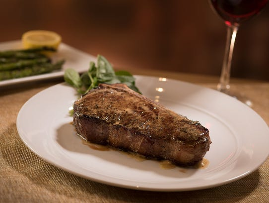 The 20-ounce Wagyu bone-in New York strip at the Capital Grille.