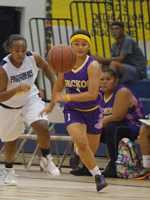 Shai-ann Trinidad had 10 points, including a game-winning 3, to help lead the George Washington Geckos to a 48-45 IIAAG Girls' Basketball League win at the Guam High Panthers on Saturday, Nov. 5.