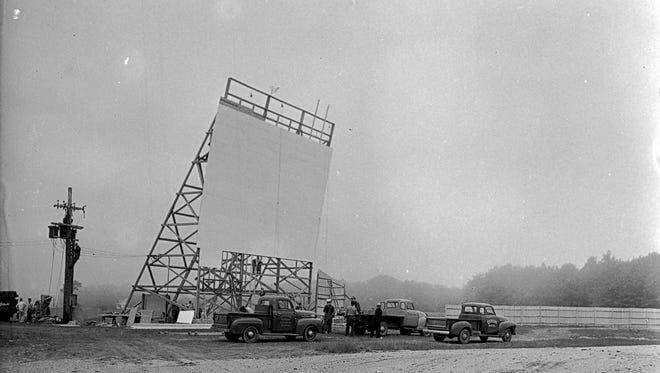 Construction of the Star Dusk Theater in Sheboygan in June of 1949, Sheboygan Press photo