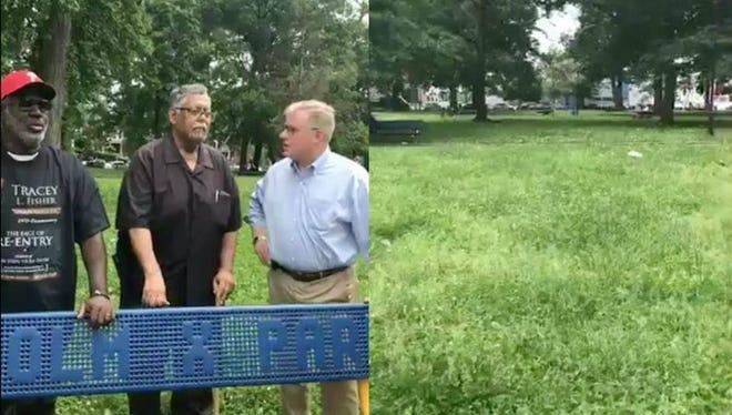 Left: Scott Wagner (far right); Right: Malcolm X Park in West Philadelphia