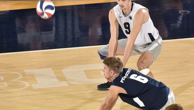 Central York High School graduate Royce Clemens (6) had eight digs on Tuesday to help Penn State upset No. 1 Ohio State.