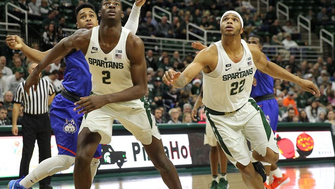 Jaren Jackson, left, and Miles Bridges, right, played at Michigan State for one and two years, respectively. They capitalized on opportunities to take different paths to the same place - the NBA - and the Spartans' program played a role.