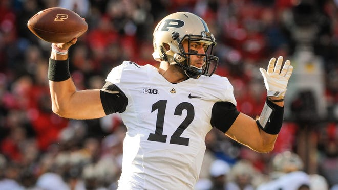 Quarterback Austin Appleby, who announced he will transfer to Florida next season, has thrown for 2,777 yards, with 19 touchdowns and 19 interceptions in three seasons at Purdue.