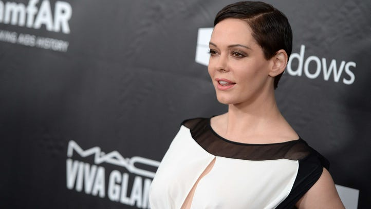 Rose McGowan in Hollywood  on Oct. 29, 2014.