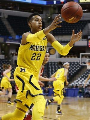 Cyesha Goree of Michigan women's basketball.