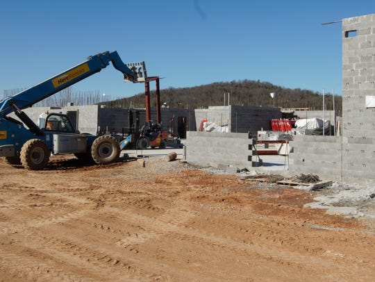 A contractor working on Marion County's new jail facility