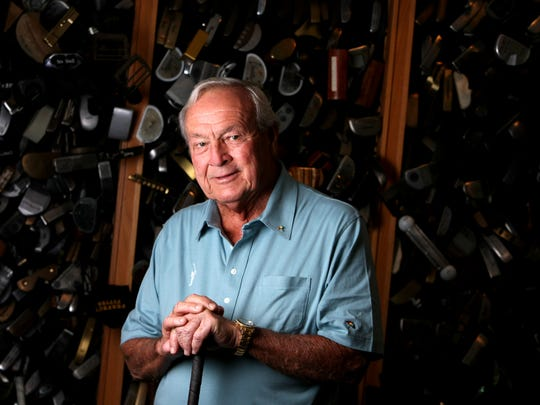 Arnold Palmer in his workshop in Latrobe, Pa., on the eve of his 80th birthday in 2009.