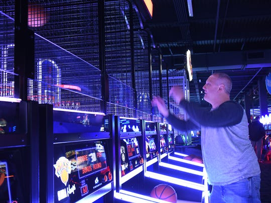 Scott Trouse of Riverdale plays basketball at the new