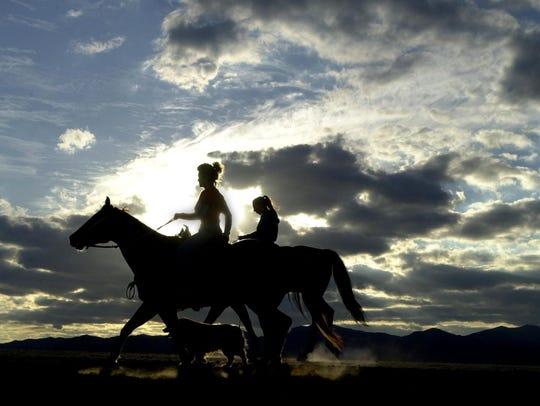 Horseback riding offers wonderful views of Arizona