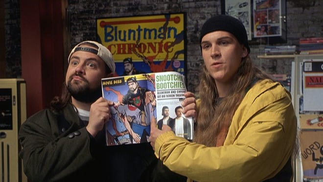"""Kevin Smith (left) and Jason Mewes in a scene from the 2001 film """"Jay and Silent Bob Strike Back."""""""