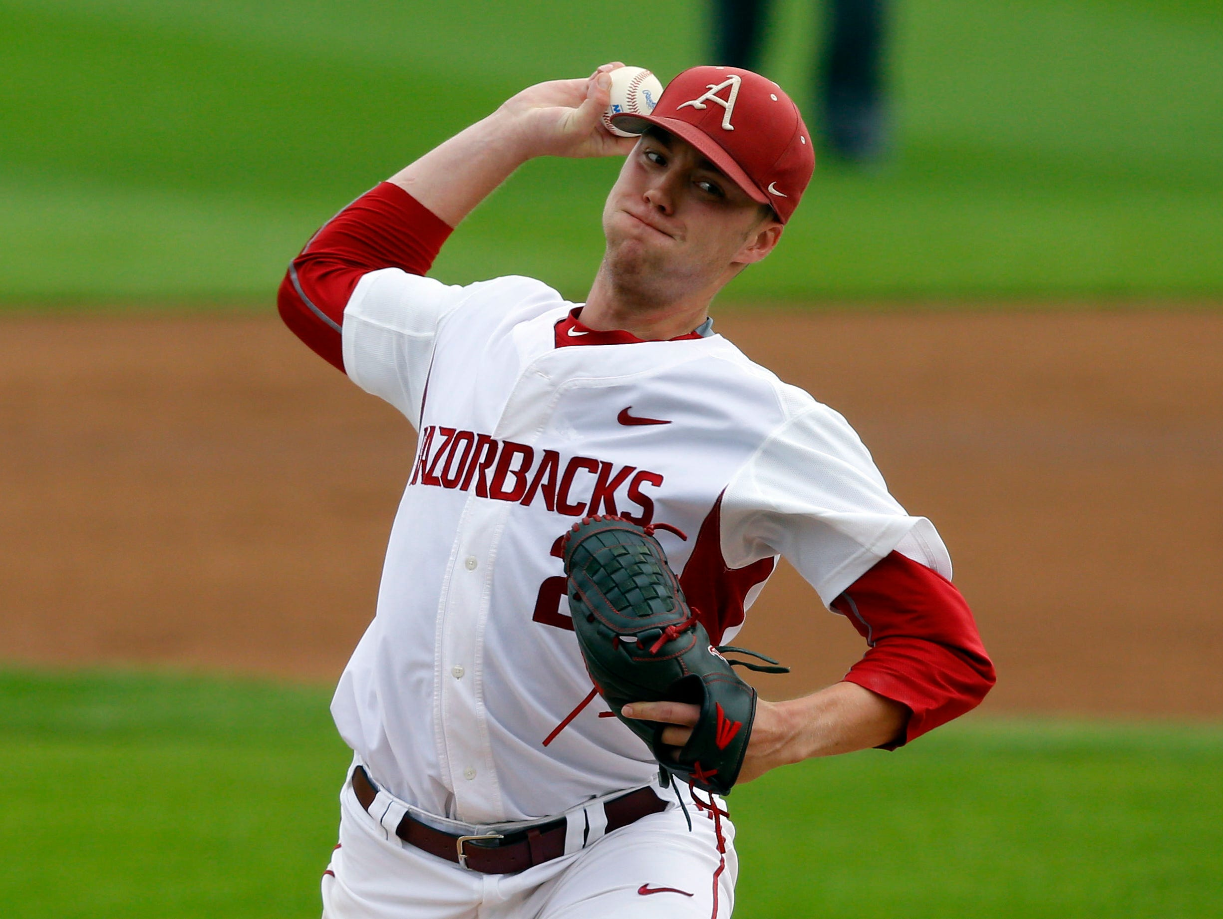 Mountain Home High grad Trey Killian got the start for Arkansas, but didn't figure in the decision after giving up eight hits with three runs (all earned) and five strikeouts over five innings. The Hogs rallied past Oral Roberts, 8-6, to win their opening game at the Stillwater Regional on Friday.