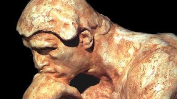 Rodin's The Thinker for Clay Thompson's column
