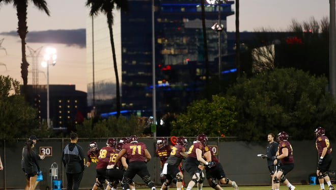 ASU is holding five of its spring football sessions at night, including the spring game on April 13.