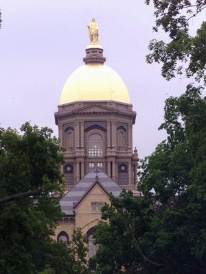 The Golden Dome shown in this photo shot Tuesday Aug. 10 1999 in South Bend Ind. at the top of the Main Building at the University of Notre Dame.