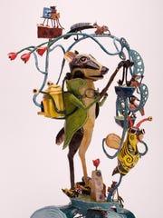 """""""Honey Badger Apiartist,"""" painted steel by Bill Reid,"""