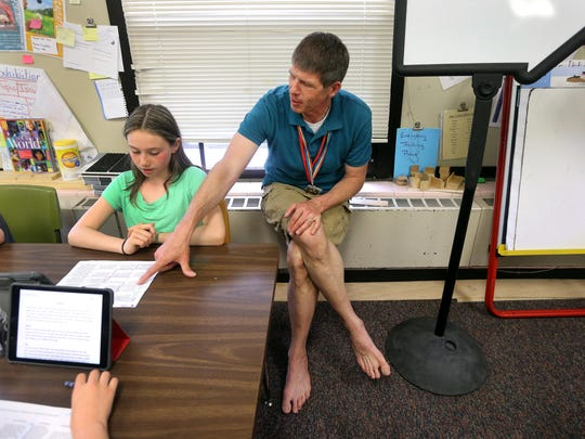 Patrick Kruchten, a teacher with 5th- and 6th-graders,