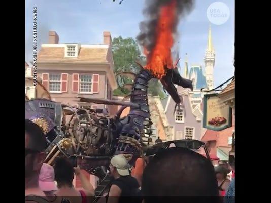 Disney dragon float