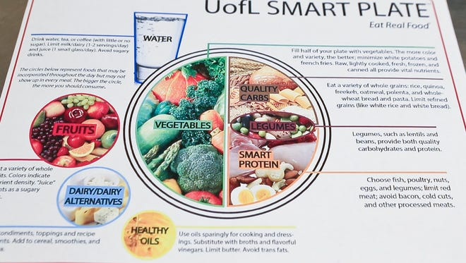The graphic on the U of L Smart Plate shows students examples of healthy eating.