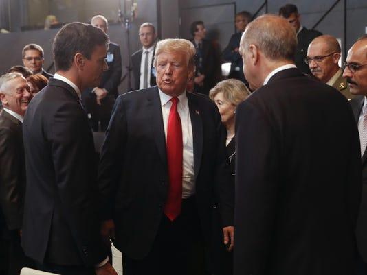 Donald Trump,Pedro Sanchez,Recep Tayyip Erdogan