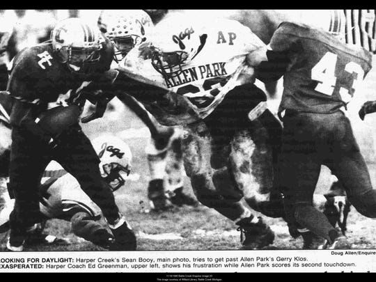 The 1995 Harper Creek team lost to Allen Park, 25-0, in the Class BB state semifinals.
