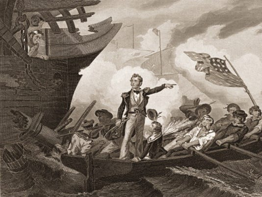Commodore Perry At The Battle Of Lake Erie