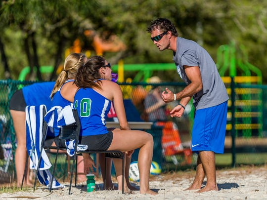 FGCU volunteer assistant Chris Sweat has loads of beach volleyball experience to pass along to the Eagles.