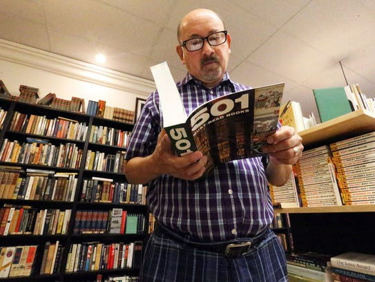 Ray Fourzan visits the Literarity bookstore during