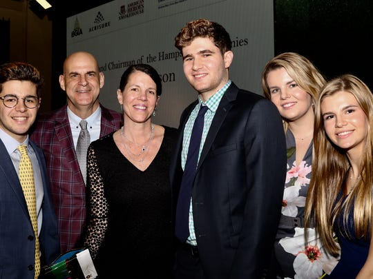 Harlan Coben with his wife, Anne, and children at his