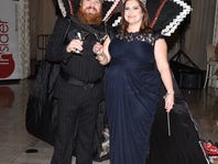 """Marc Broussard and Ann Falgout reign as King and Queen of this years """"Krewe des News"""". The Advertiser presents  """"Shaken, Not Stirred""""  at the Le Marquise Ballroom. Jan 15, 2016."""
