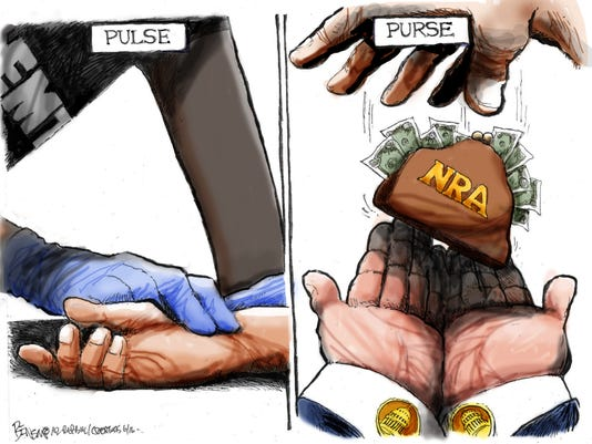 No pulse, but lots of NRA purse