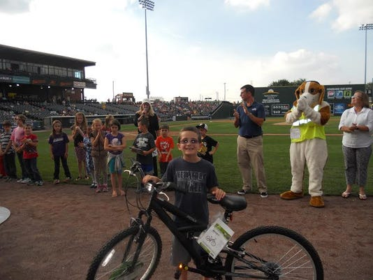 York County Literacy Council (YCLC) presented a BMX bike, donated by Doceo Office Solutions to Jake Calcitrai of the South Western School District.