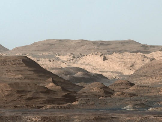 View of the surface of Mars from NASA's Curiosity rover.