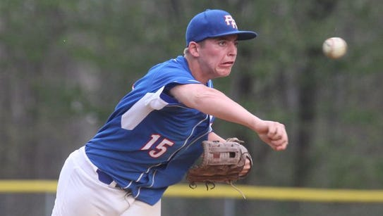 Pearl River's Kevin Scrima throws a pitch in a 7-5