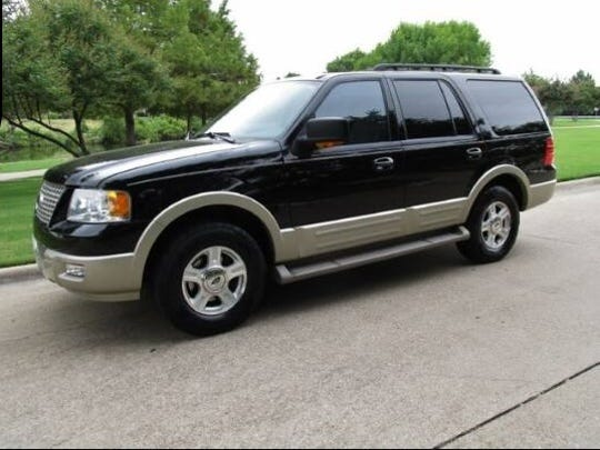 Officers are looking for a black 2005 Ford Expedition possibly with tinted windows. The Texas license plate is CHW7617 and the vehicle has been reported stolen.
