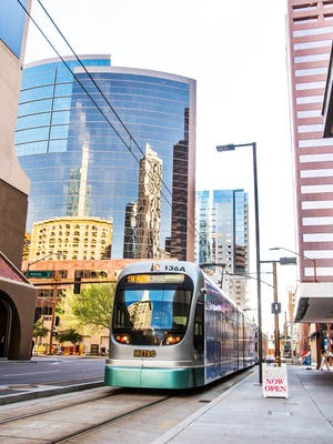 The metro light-rail system has made today's downtown Phoenix an economic and social hub, drawing passengers from other parts of the Valley.