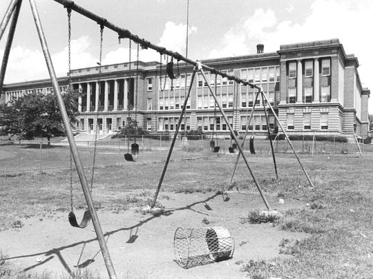 From the archive: An exterior view of the former Madison High School, which closed in 1981.