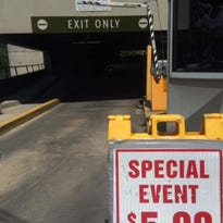 """The city uses """"event parking"""" to ensure a smooth exit flow from parking decks."""