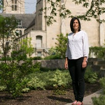 Registered landscape architect Sue Steele pictured outside Memorial Art Gallery in Rochester.