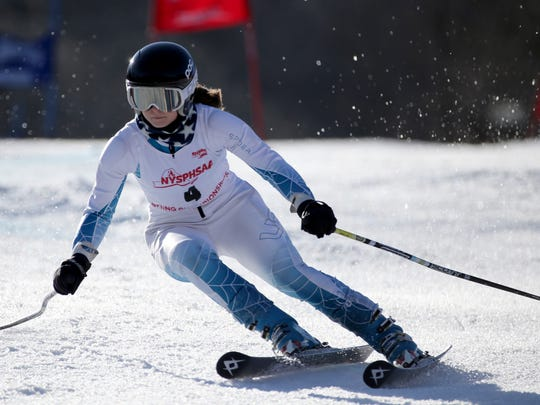 Katie Carrier of Victor at the New York State Alpine Skiing Championships.