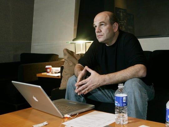 David Simon works on additional dialogue recording