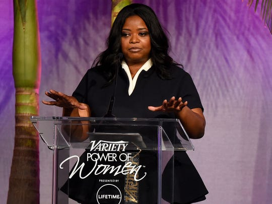 Octavia Spencer speaks at the Variety Power of Women lunch, presented by Lifetime.