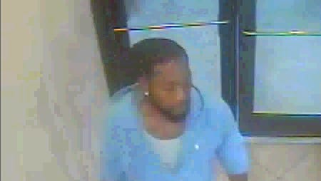 Still from surveillance video of suspect.