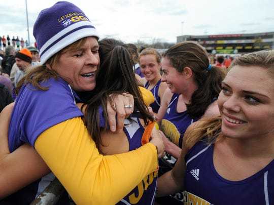 Lexington head coach Denise Benson has three girls state titles, two boys state titles and a girls runner-up finish all since 2015.