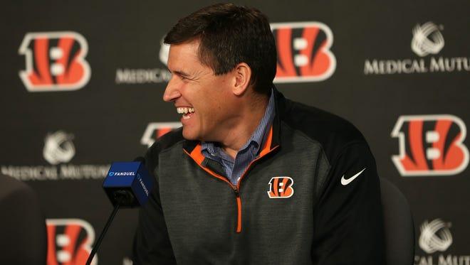 Cincinnati Bengals offensive coordinator Bill Lazor has a varied background that sets the team's future.