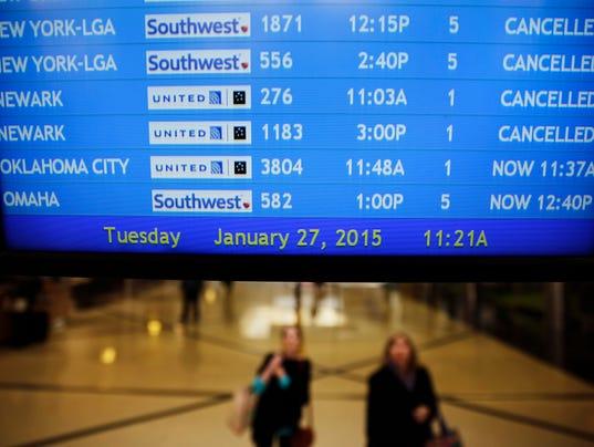 AP WINTER WEATHER FLIGHTS A WEA F USA GA
