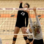 Gabrielle Tschannen had a big day for the Brighton volleyball team at Saturday's Saline Invitational.