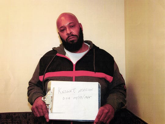 "One of a series of evidence photos of ""Suge"" Knight"